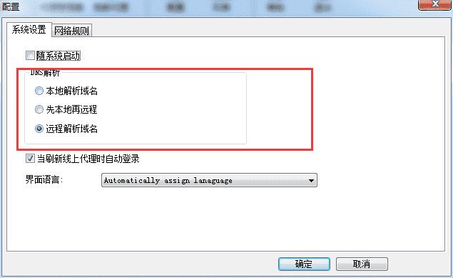 SocksCap64域名解析方式