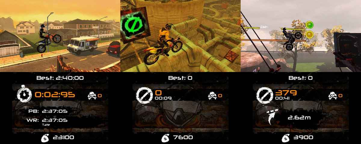 "Urban Trial Freestyle 2 (3DS) Developer: Teyon Publisher: Tate Multimedia Released: April 20, 2017 (US), March 30, 2017 (EU) MSRP: $6.99 Urban Trial Freestyle 2 challenges you to master a multitude of courses in either stunt mode or time attack. Tracks are treacherous with a variety of jumps, obstacles, and barely noticeable bumps that aim to trip you up. It took me a while to really get into the groove of everything. The key to doing well was not only track memory, but my ability to adjust on the fly. Speeding through a track isn't necessarily the best way forward as I discovered it was much more important to make sure my bike was well balanced on the ground, going into a jump or coming in for a landing. In stunt mode, there are a few pre-determined spots where you'll need to complete the required ""stunt."" I put that in quotes because three of the four ""stunts"" are not stunts at all. You either jump high, jump far, jump a certain distance, or do a flip. At first, I found the scoring for these tricks to be wildly inconsistent but I eventually learned the quirks of the system. For instance, when doing a flip I found that nailing a perfect 360 wasn't nearly as well received as slightly going over. Tracks aren't necessarily built to make performing these ""stunts"" easy. In fact, many of them seemed to be actively working against me and nailing a four or five-star run required multiple attempts. Branching pathways made replaying the tracks enjoyable, but the poor placement of checkpoints hurt the experience. They almost feel like they're inserted at random and several tracks could be greatly improved with some checkpoint adjustments. One I remember had a series of difficult sections with a small break in between the two most difficult jumps. Clearing this part of the track took roughly 20 tries, a number that could have been cut in half had the checkpoint been moved from the end of this section to the middle. I know that sounds like a you-need-to-get-gud complaint, but many other tracks where I didn't face any troublesome jumps also had checkpoints that made little sense in their location. I don't think I've ever given much thought to a game's menus in any of my previous reviews, but I need to take a moment to tell you how awful they are here. Tracks are grouped together in several different locations, such as highways and suburbs. When you select a location, you can choose the track you want to play, but after you are done with it, you can either go to the next track in the group or exit back out and repeat the selection process. The rest of the menus look straight out of the '90s and feel like a first draft. Nowhere is the poor menu system more evident than in the track builder. You can build and upload your own uniquely designed tracks as well as download those designed by others. The options are extensive for building your ultimate track, but there's no smart or simple way to navigate its available elements. When placing pieces on your track, you can't easily snap them together to make an easier ride. Creating a quality track took a lot, a lot, of trial and error as I had to learn the jump angles possible from each individual jump. Having more options would have kept me in the mode for longer, or even just the option to move where the finish line is. As for unlockables, there is new gear you can purchase - all of which is just as ugly as the rest of the game - as well as upgrades for your bikes. There are four bikes to unlock that each handle in their own unique way and upgrades you can purchase for those bikes. I'm sure there is a demographic out there that Urban Trial Freestyle 2 will appeal to, but it is clear to me now that I am not a part of that key demo. While I can appreciate what they were going for here and I found myself really getting into the challenge, any feeling of joy I experience doesn't last for long when I'm faced with so many bewildering design choices."