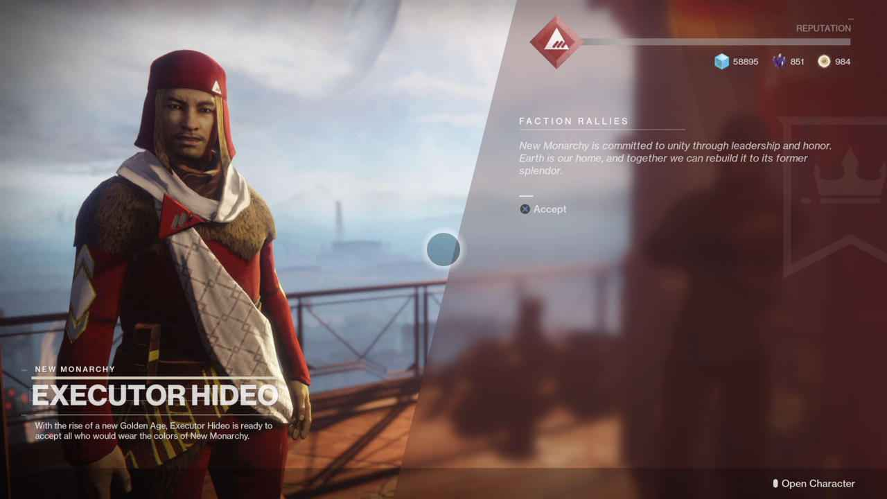 how to change your faction in destiny 2