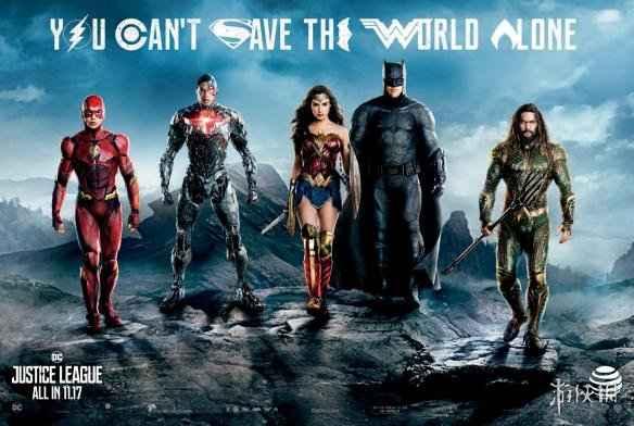 《正義聯盟》海報與全員逼真雕像公布 女俠性感揮鞭