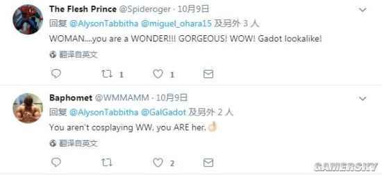 神奇女侠COS太像加朵本尊 网友:简直是双胞胎