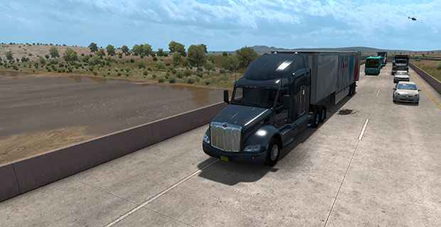 American Truck Simulator New Mexico pursues a real America, not a Hollywood America