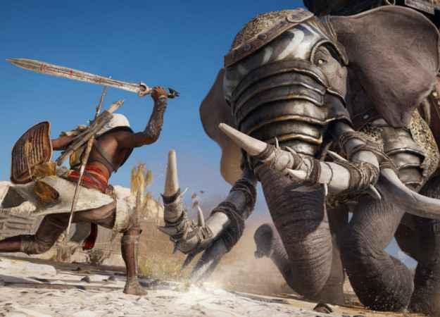 Убить боевого слона голыми руками? В Assassin's Creed: Origins можно все!
