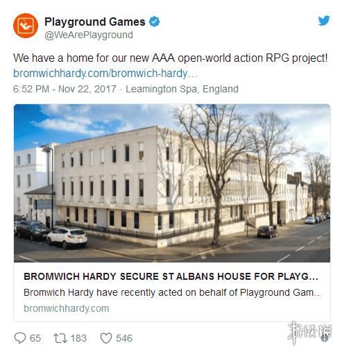 《極限競速:地平線3》開發商Playground Games將打造全新開放世界3A大作