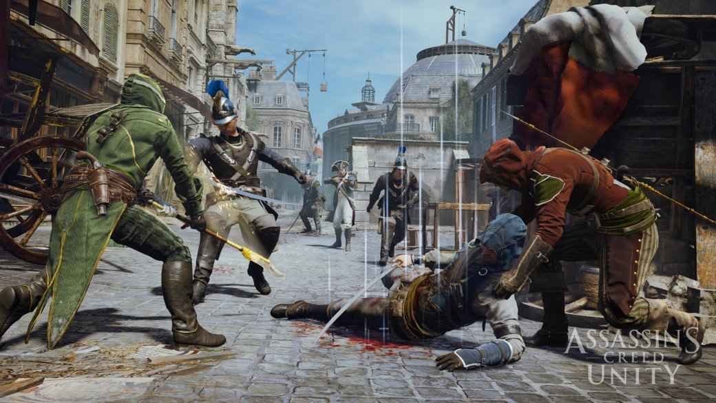 Гифка дня: ощутите адскую боль стражника в Assassin's Creed Unity