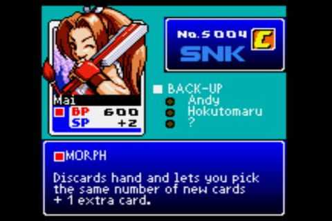 SNK vs. Capcom Card Fighters' Clash - SNK Card Fighter's Version