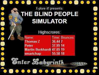 Blind People Simulator