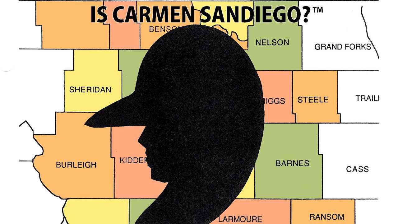 Where in North Dakota is Carmen Sandiego?
