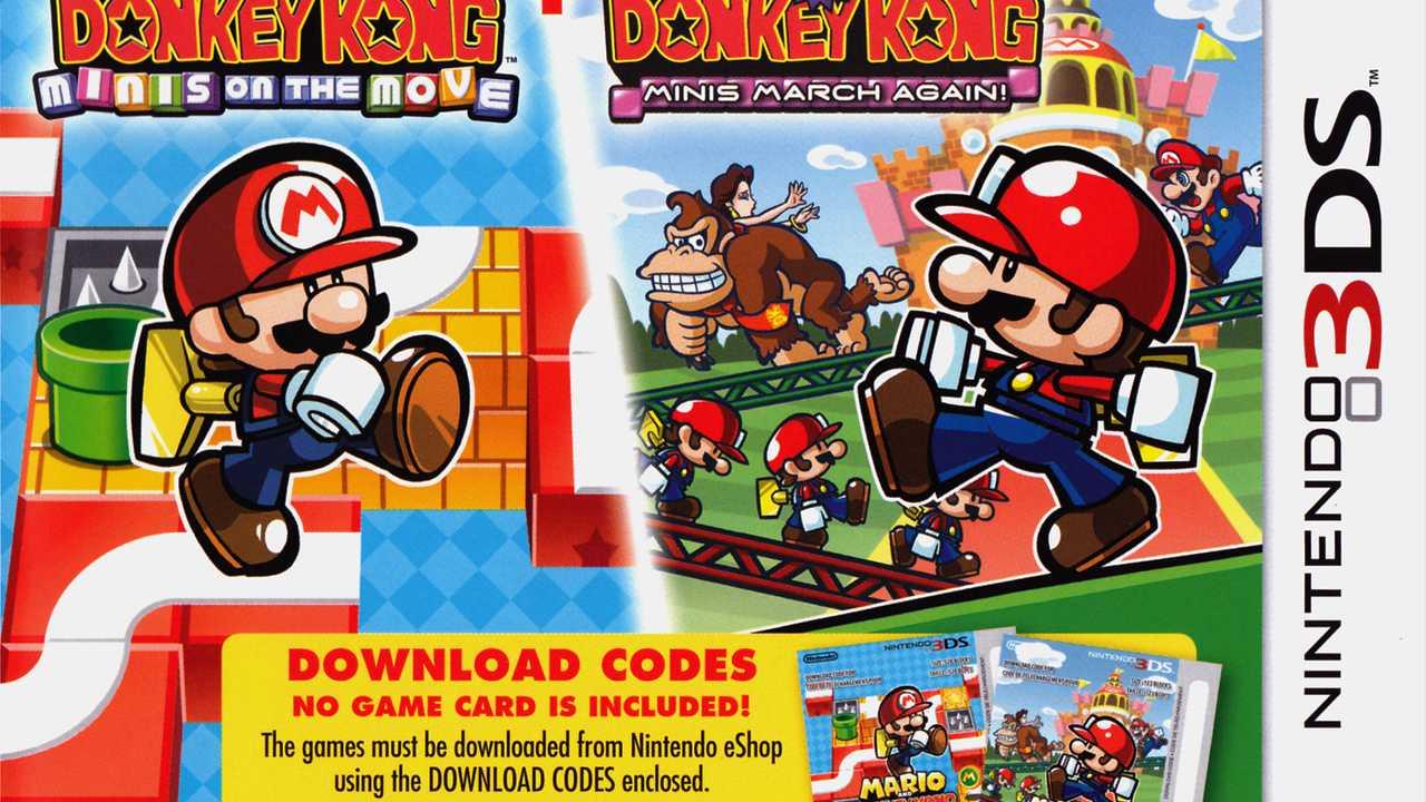Mario and Donkey Kong: Minis on the Move + Mario vs. Donkey Kong: Minis March Again!