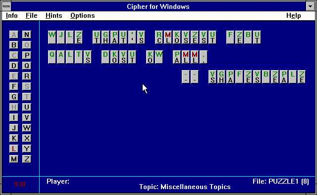 Cipher for Windows