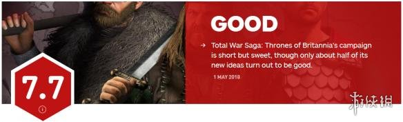 《全面戰爭傳奇:大不列顛王座》獲IGN 7.7分 想法很棒!
