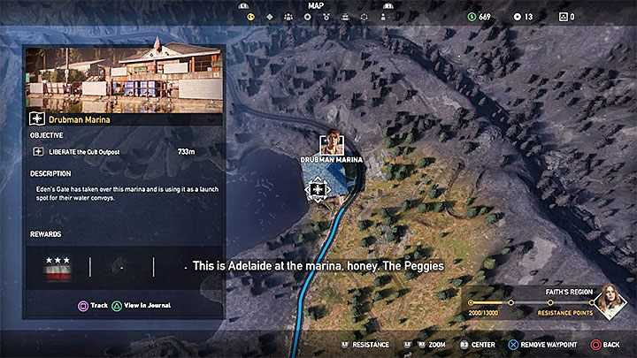 Capturing cult outposts in Far Cry 5