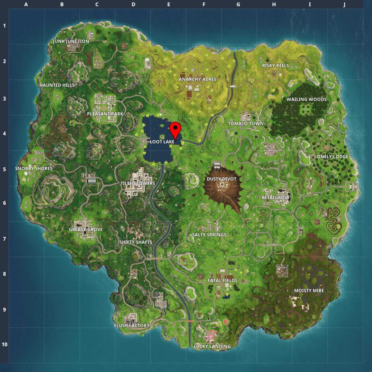 Fortnite Season 4: Where The Letters Are; Tomato Town Treasure Map (Week 1 Challenges)