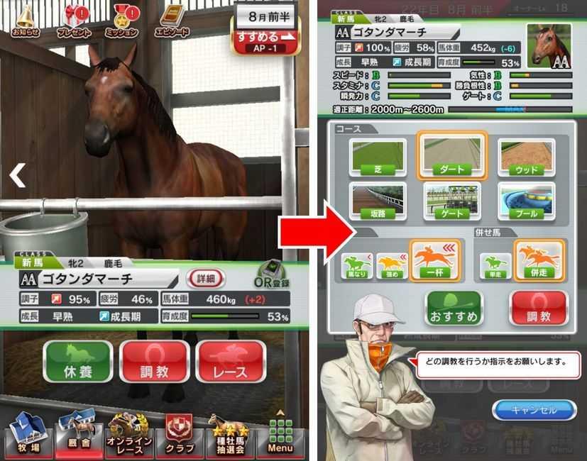 ダービーストーリーズ【攻略】: 愛馬を育成度100%まで鍛えるための調教のポイント