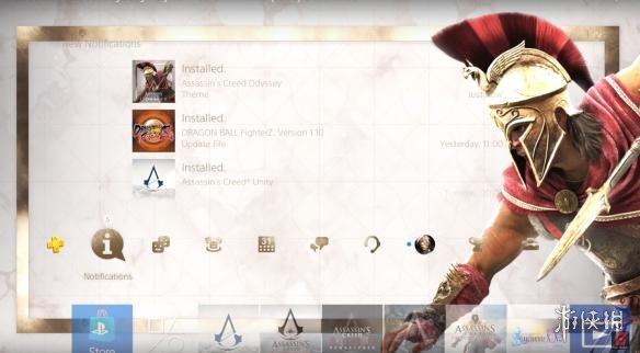 《刺客信条:奥德赛》免费动态主题新鲜出炉!在PS4上抢先体验斯巴达战士的风采!