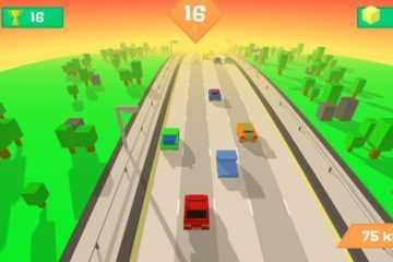 Pixel Traffic: Highway Racing