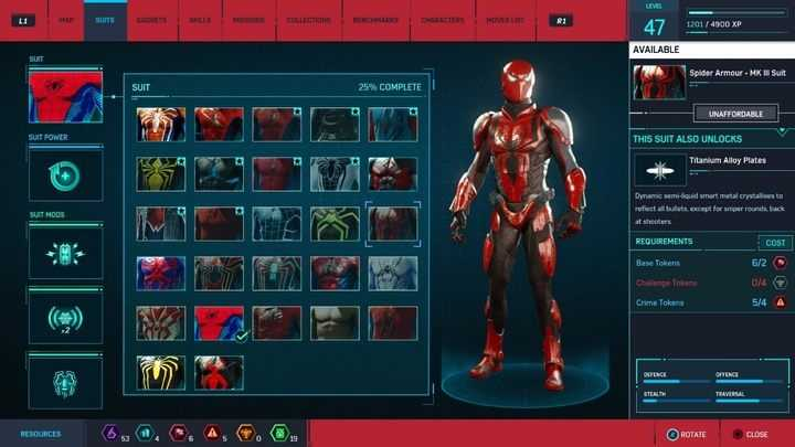 All Marvel's Spider-Man in-game suits-Marvel's Spider-Man Guide and Walkthrough