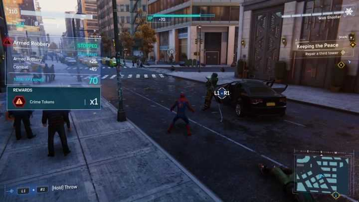 How to get Crime Tokens in Marvel's Spider-Man on PS4?