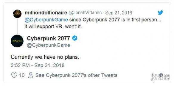 《赛博朋克2077》官方推特透露游戏新情报:拍照模式/MOD/RTX技术/VR等