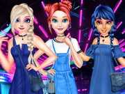 Princess Denim Dress Fashion