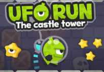 UFO Run. The castle tower