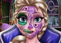 Elsa Scary Halloween Makeup