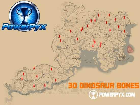 荒野大镖客 救赎2 恐龙骨地点