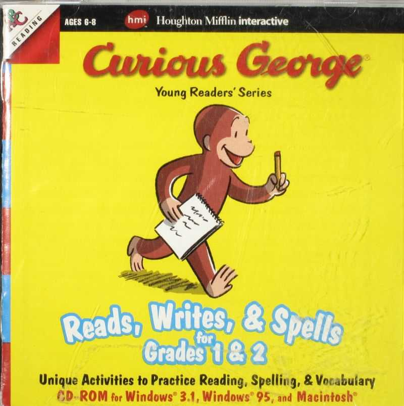 Curious George Reads, Writes, & Spells for Grades 1 & 2