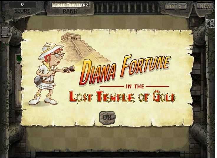 Diana Fortune in the Lost Temple of Gold
