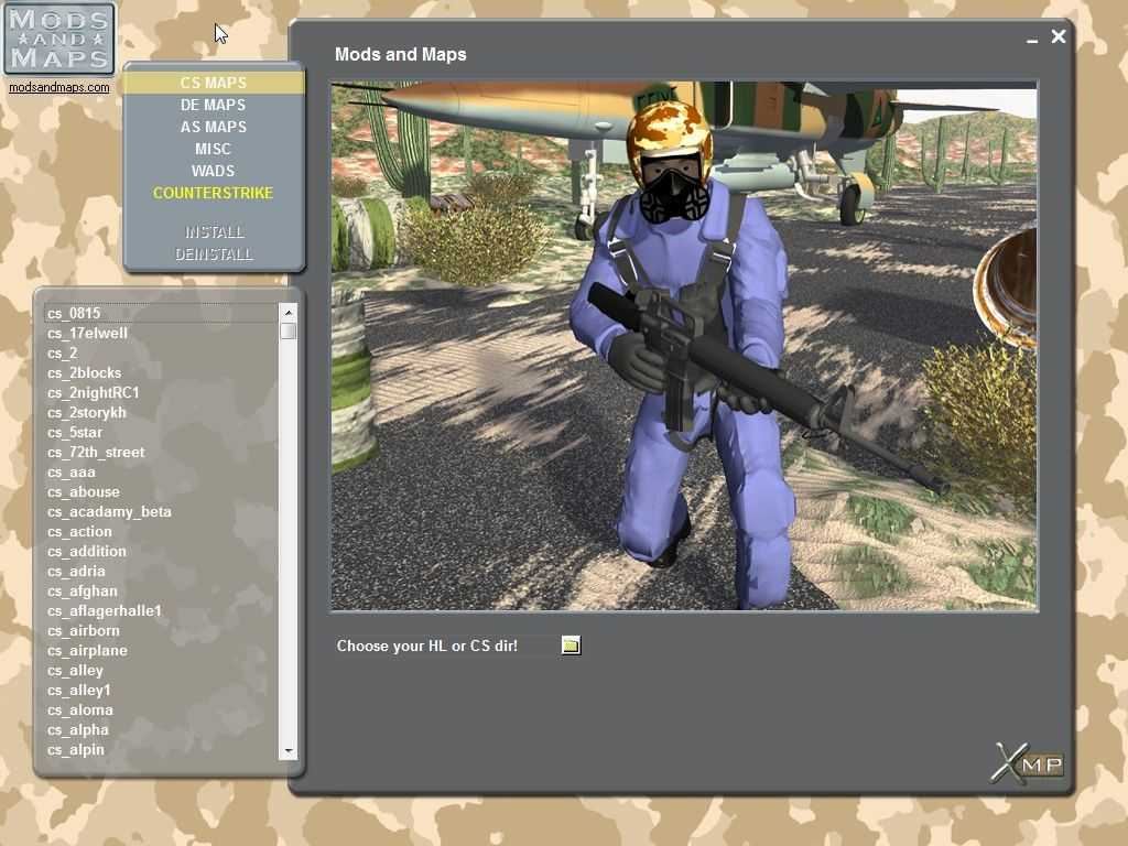 Mods and Maps: More than 1000 maps for Counter-Strike