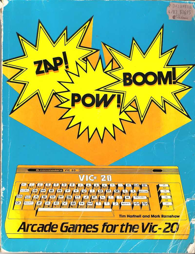 ZAP! POW! BOOM! Arcade Games for the Vic-20