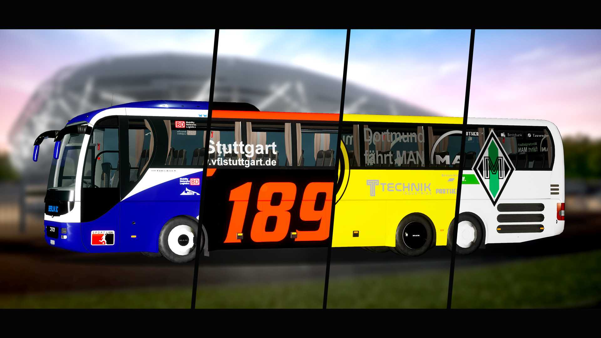 Fernbus Simulator Add-on - Football Team Bus