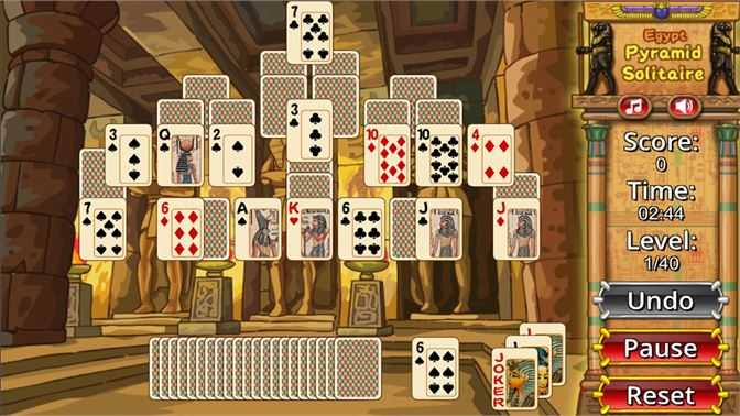 Egypt Pyramid Solitaire Puzzle