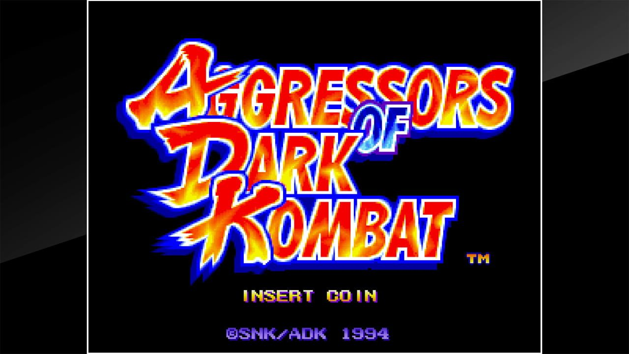 ACA NEOGEO AGGRESSORS OF DARK KOMBAT