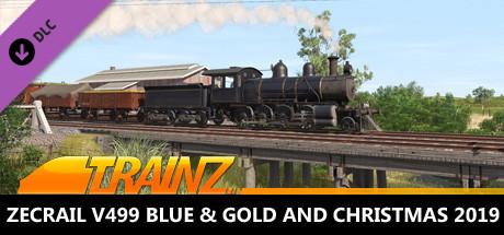 Trainz 2019 DLC - ZecRail V499 Blue & Gold and Christmas 2019