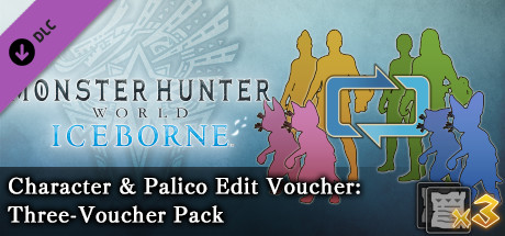 Monster Hunter: World - Character & Palico Edit Voucher: Three-Voucher Pack