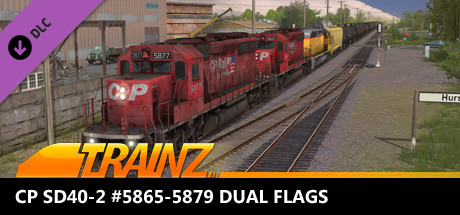 Trainz 2019 DLC - CP SD40-2 #5865-5879 Dual Flags