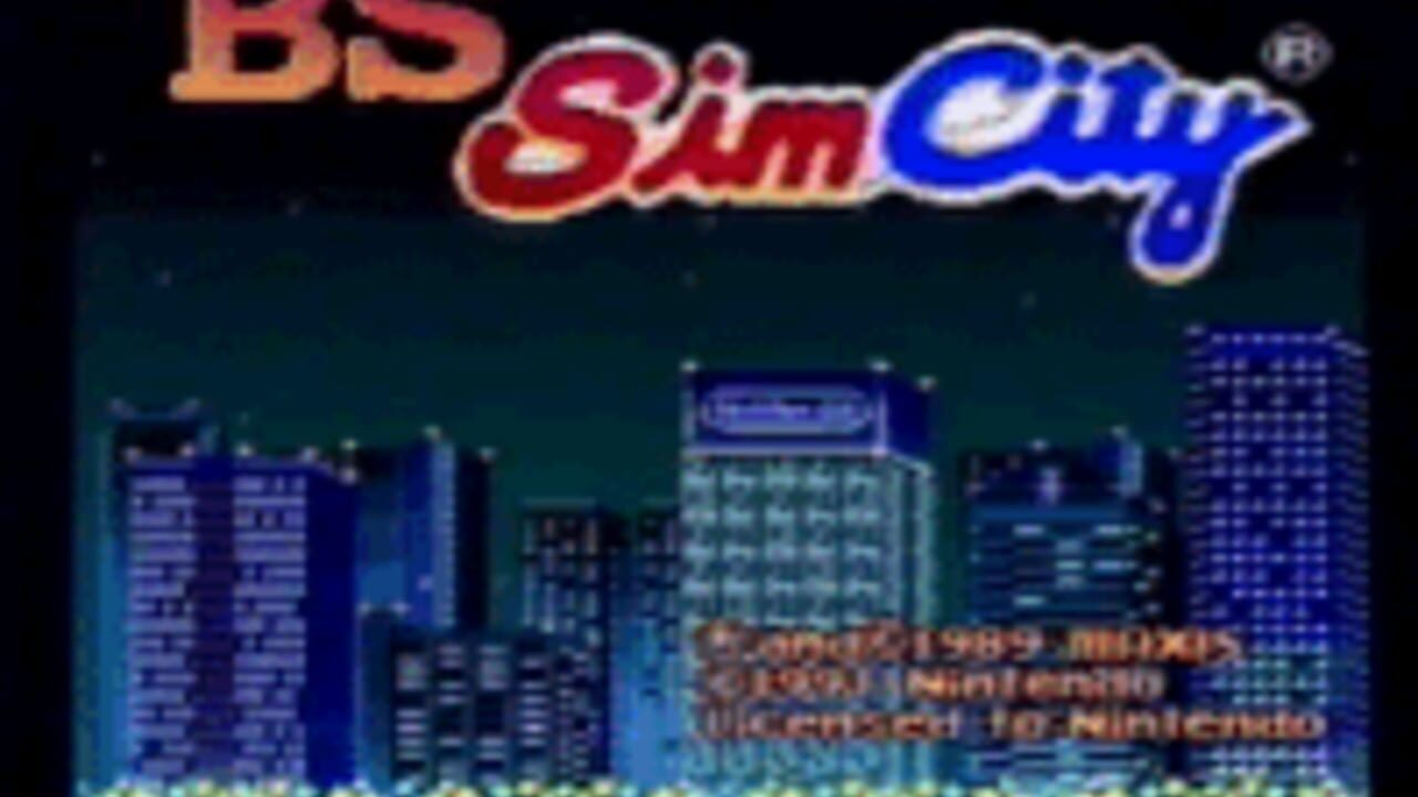 BS SimCity: Machi Tsukuri Taikai