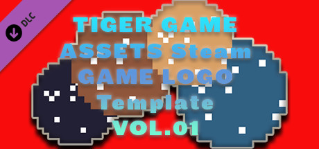 TIGER GAME ASSETS Steam GAME LOGO Template VOL.01