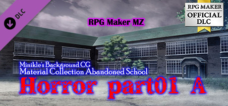 RPG Maker MZ - Minikle's Background CG Material Collection Abandoned School  Horror part01 A