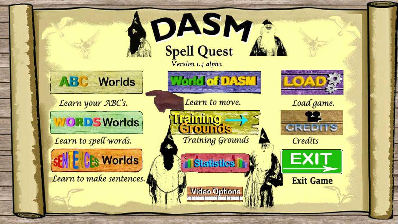World of DASM: DASM Spell Quest