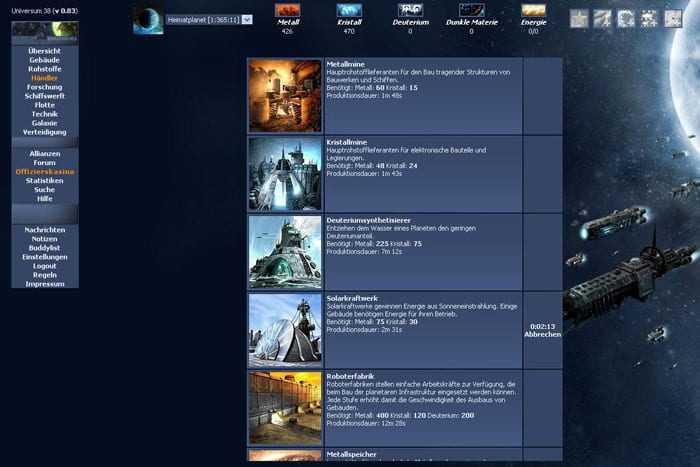 OGame Reviews, News, Descriptions, Walkthrough and System