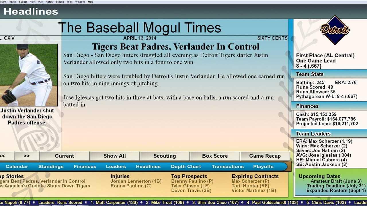 Baseball Mogul 2015