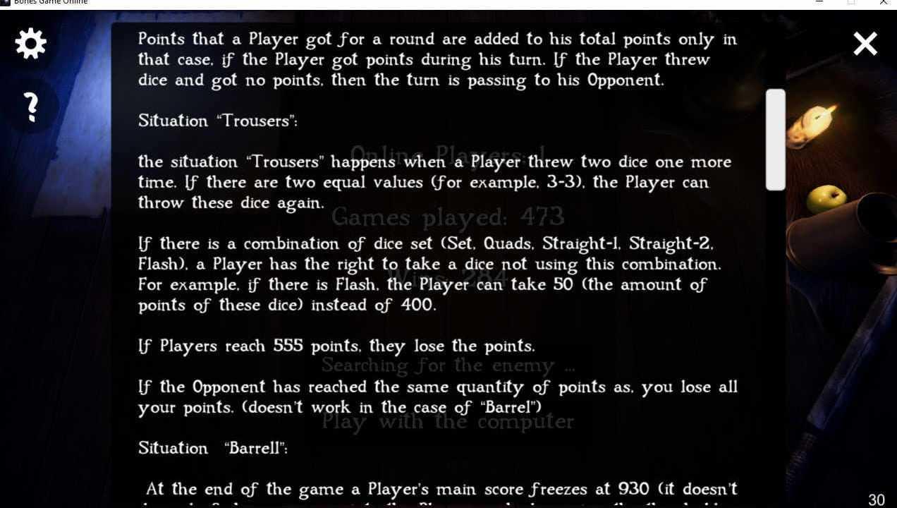 Bones game online