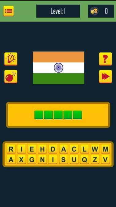 Guess The Flags : A fun quiz