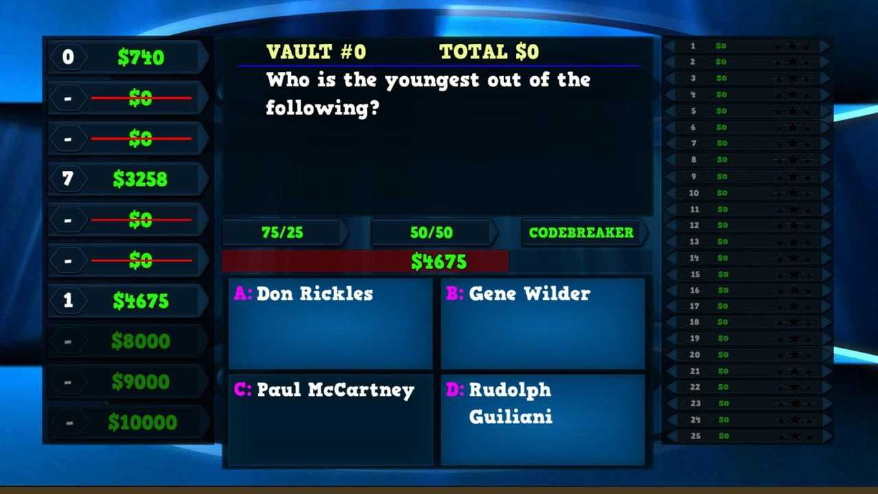 Trivia Vault: Celebrity Trivia